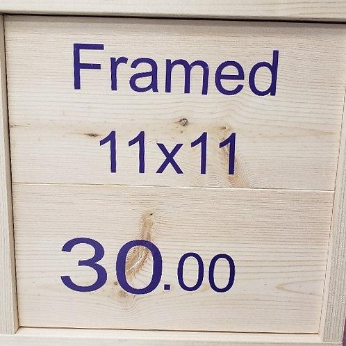 FRAMED 11X11