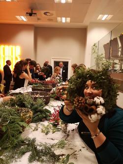 Natasha O Brien Moet evening wreath maki