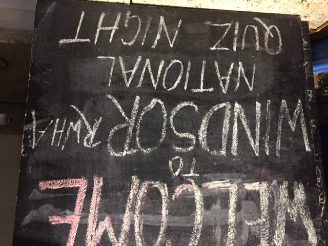 Blackboard at the George