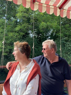 Andy and Alison Tarrant Boat Trip