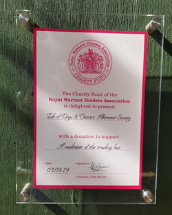 IOD Allotment Soc RWHA Charity Fund Plaq