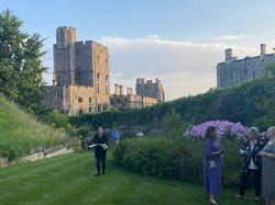Summer Recep Windsor Castle 2021 Guests Moat Garden