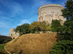 Round Tower and gardens Windsor Castle