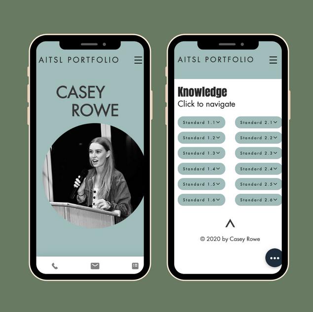 Casey Rowe AITSL Portfolio - Mobile Webs