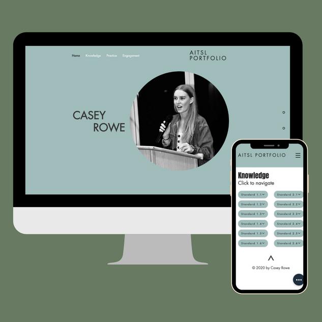 Casey Rowe AITSL Portfolio - Website
