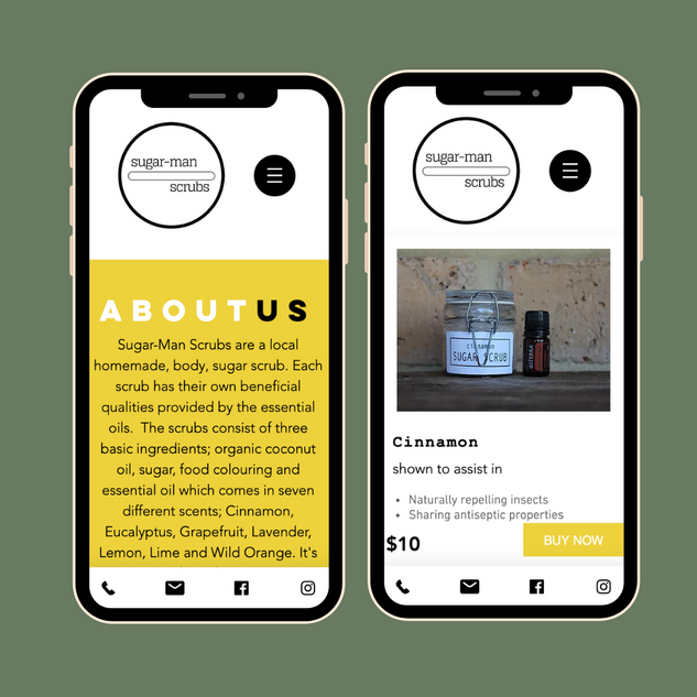 Sugar-Man Scrubs - Mobile Website