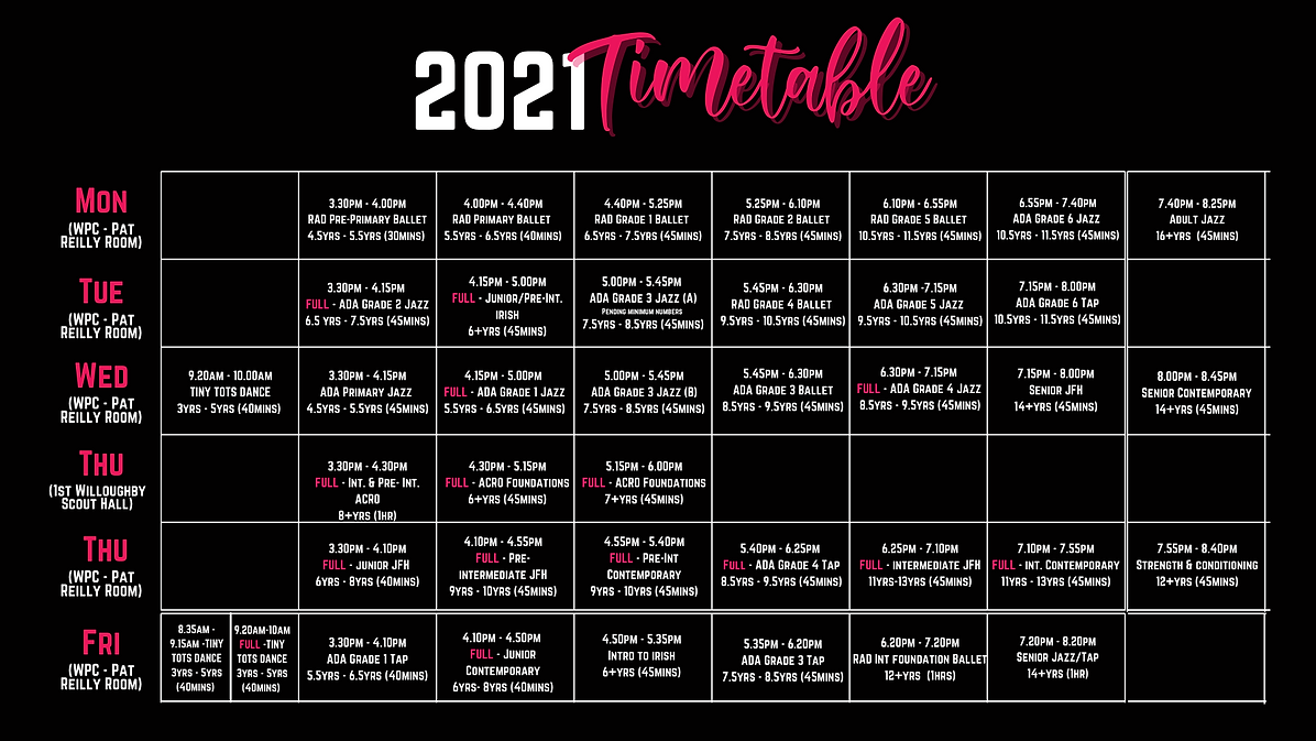 2021 LHDA Timetable.png