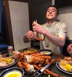 Brown King Crab feast