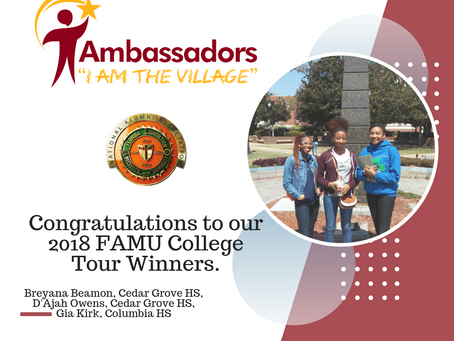 Congratulations to the 2018 College Tour Winners!!