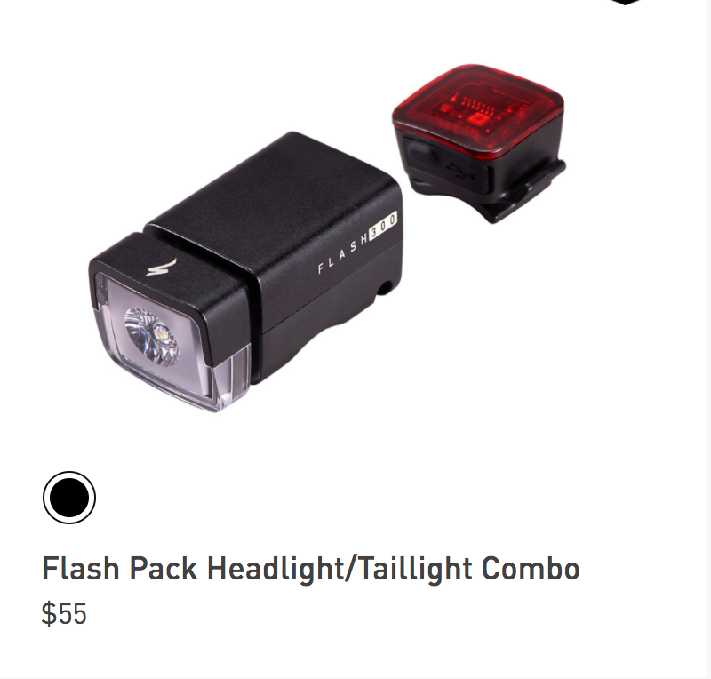 Specialized Bike Headlight Flash pack Combo