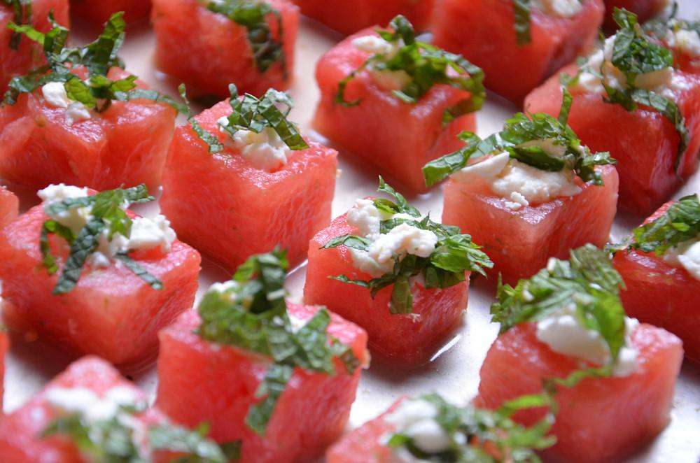 Watermelon Feta Box Appetizer