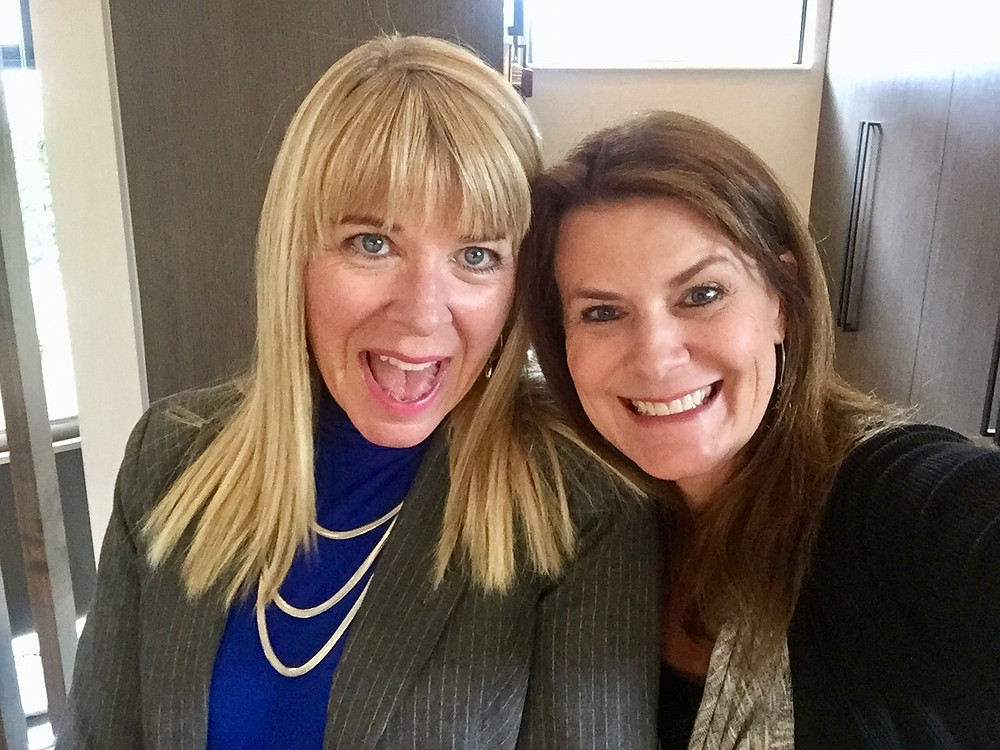 Stacey Dowling and friend at a mortgage lender networking event
