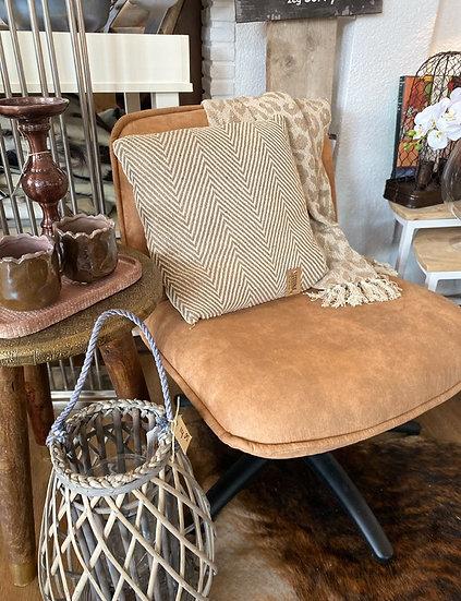 Draai fauteuil cognac