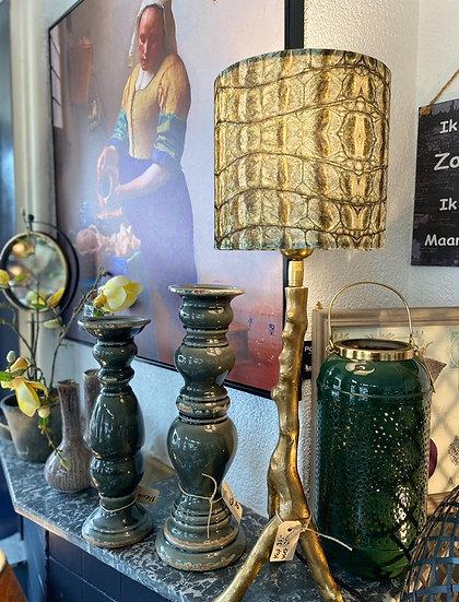 Lamp inclusief kap velours