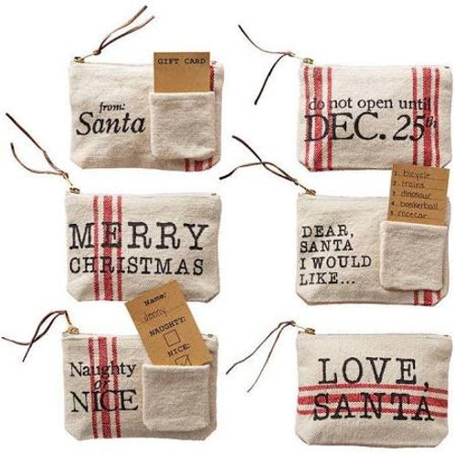Christmas Grainsack Gift Pouch