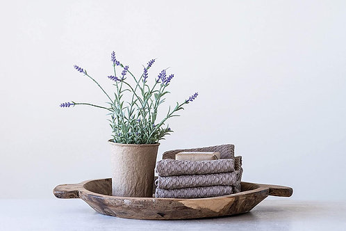 Faux Lavender in a Paper Pot