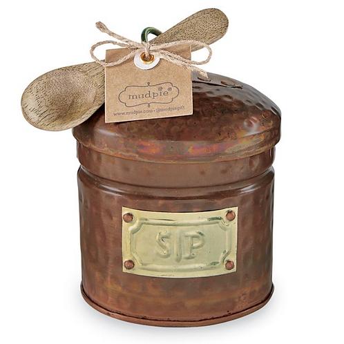 Copper Salt & Pepper Cellar Set