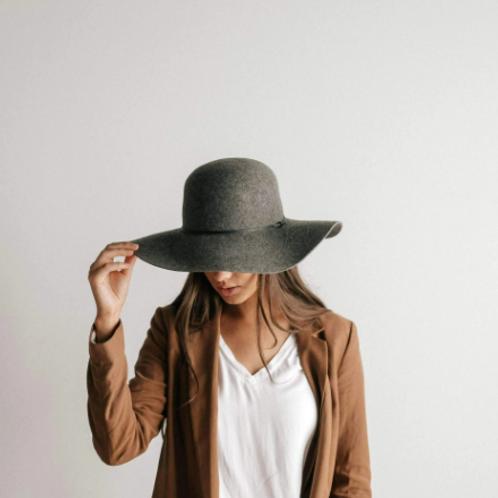 Annabella Floppy Hat - Heather Grey