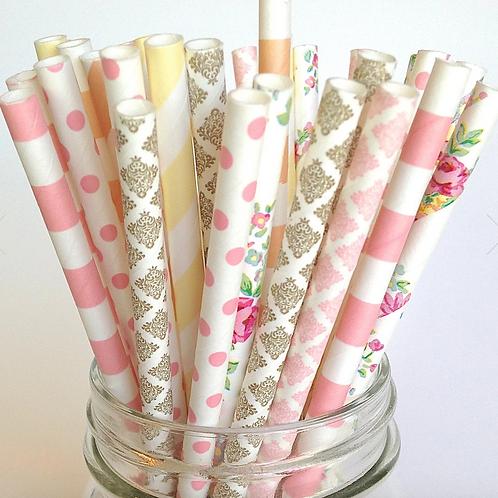 Burlap & Lace Paper Straws