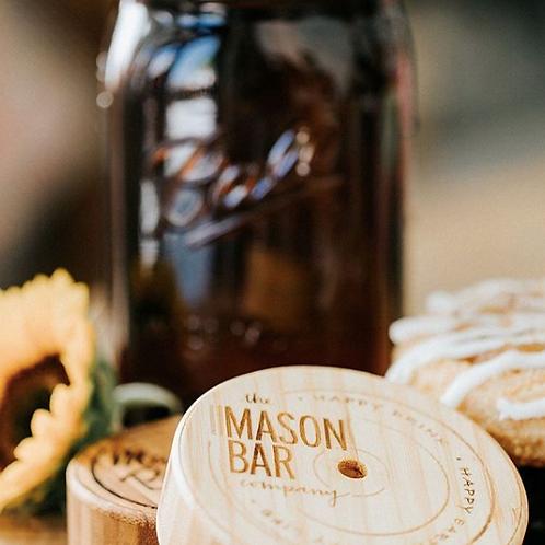 Amber Mason Jar with Bamboo Lid