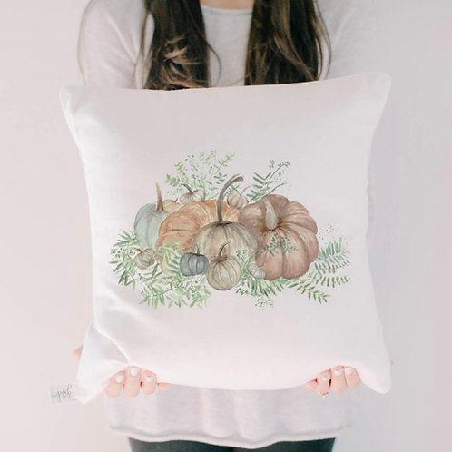 Pumpkin Bunch Watercolor Pillow