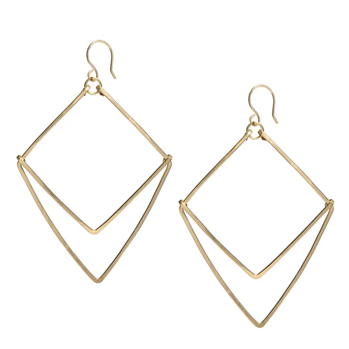 Geometric Chevron Earrings