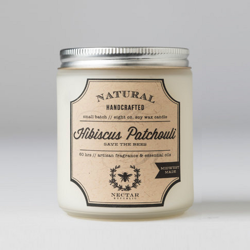 Hibiscus Patchouli : Jar Candle