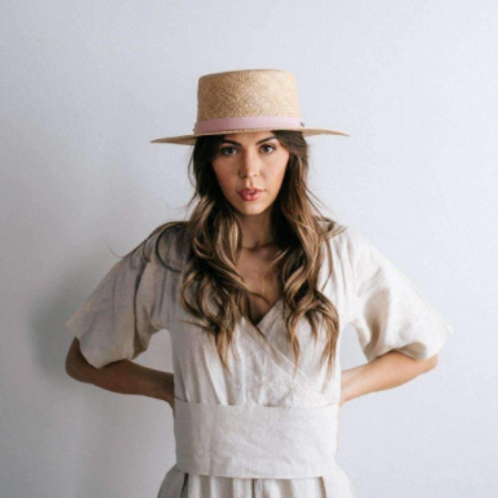Brae Straw Hat with Leather Band