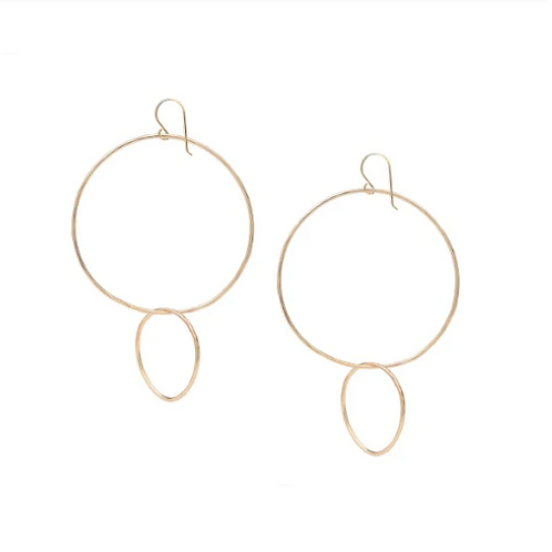 Reverse Double Hoop Earrings