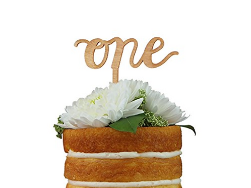 Calligraphy Number Cake Topper
