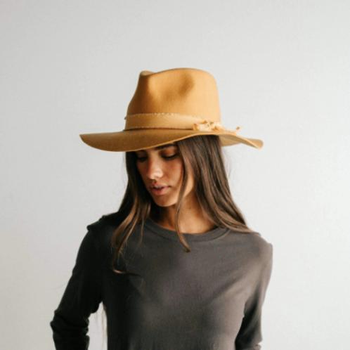 Hannah Floppy Fedora - Mustard