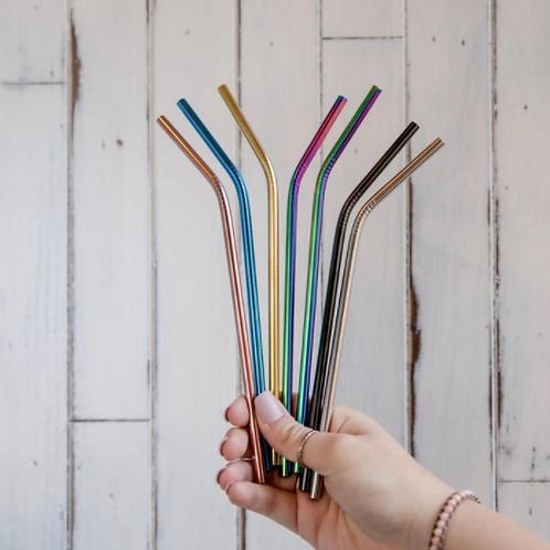 Metal Bent Straws