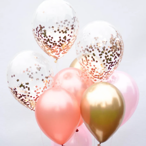 Pink Blossom Confetti Balloon Bouquet