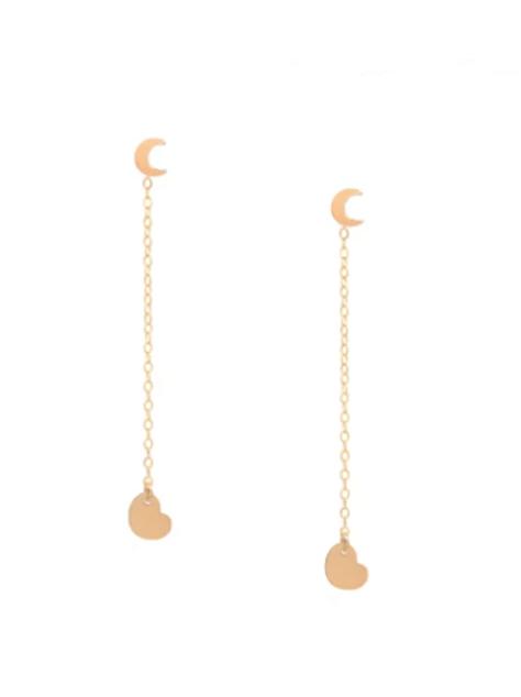 I love you to the moon & back - Ear Jacket Earrings