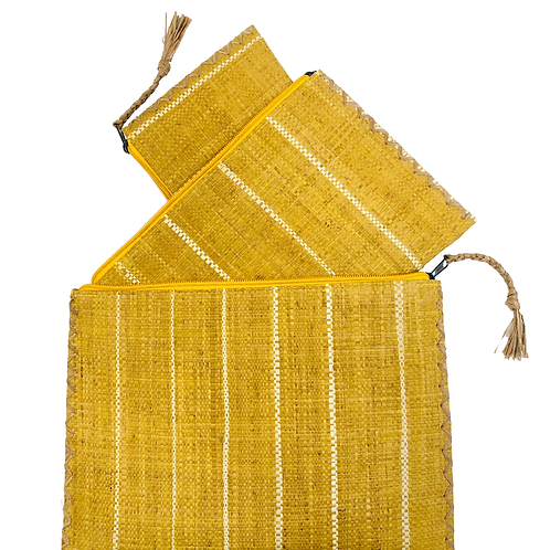 Set of 3 Straw Clutch Bags