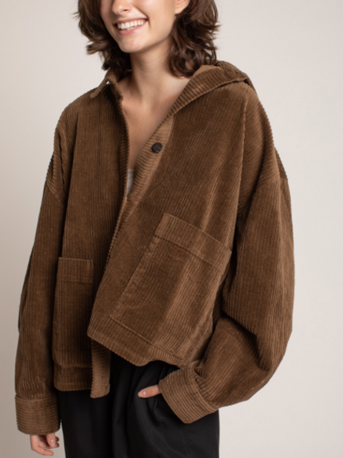 Over Sized Brown Corduroy Jacket