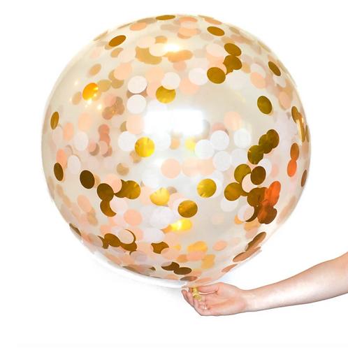 Rose Gold Jumbo Confetti Balloon