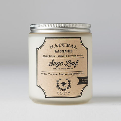 Sage Leaf : Jar Candle