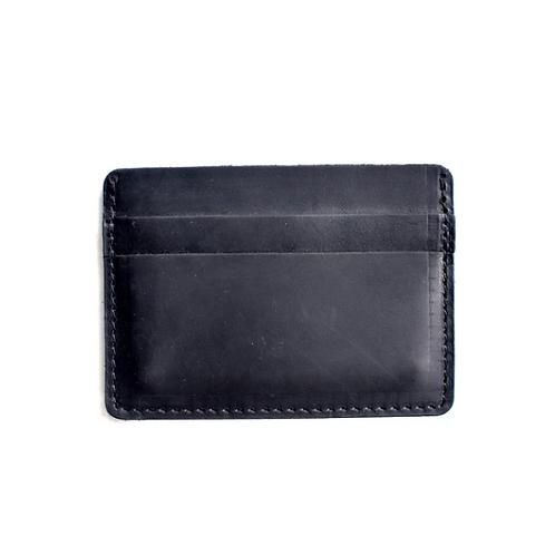 Black Leather Ultra Slim Wallet