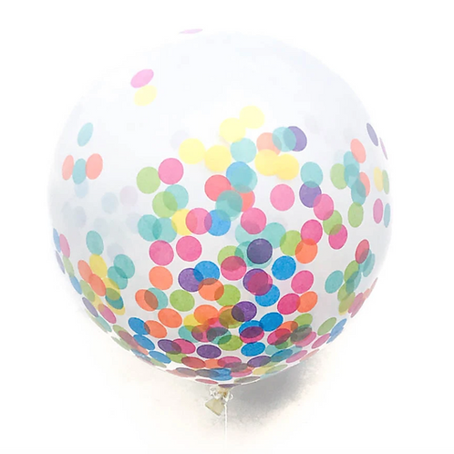 Multicolor Jumbo Confetti Balloon