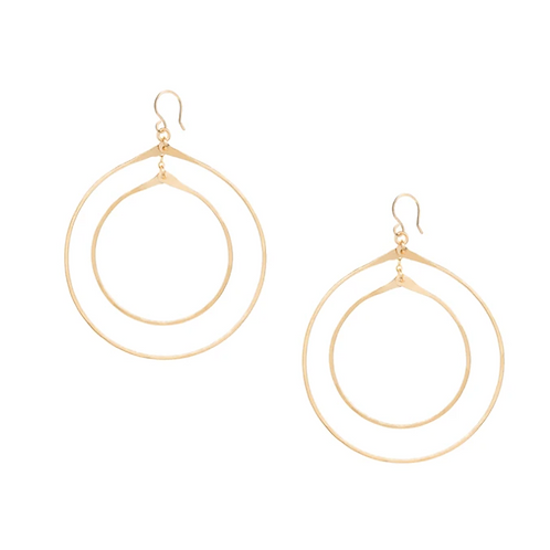 Double Orbital Hoop Earrings