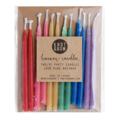 Multicolored Beeswax Candles