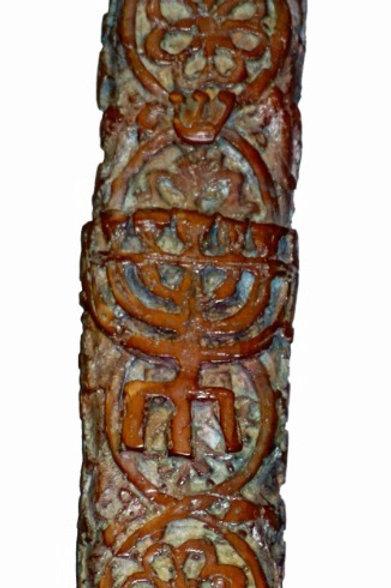 PARIS  MYRIAM SITBON Sculpture  bronze «MEZOUZAH»
