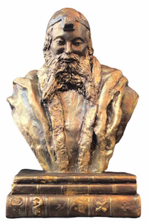 PARIS  MYRIAM SITBON Sculpture resine «TEPHILINE» Dimension : 32x18 cm