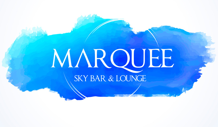 Initial Marquee Sky Bar & Lounge Logo Presentation Concept