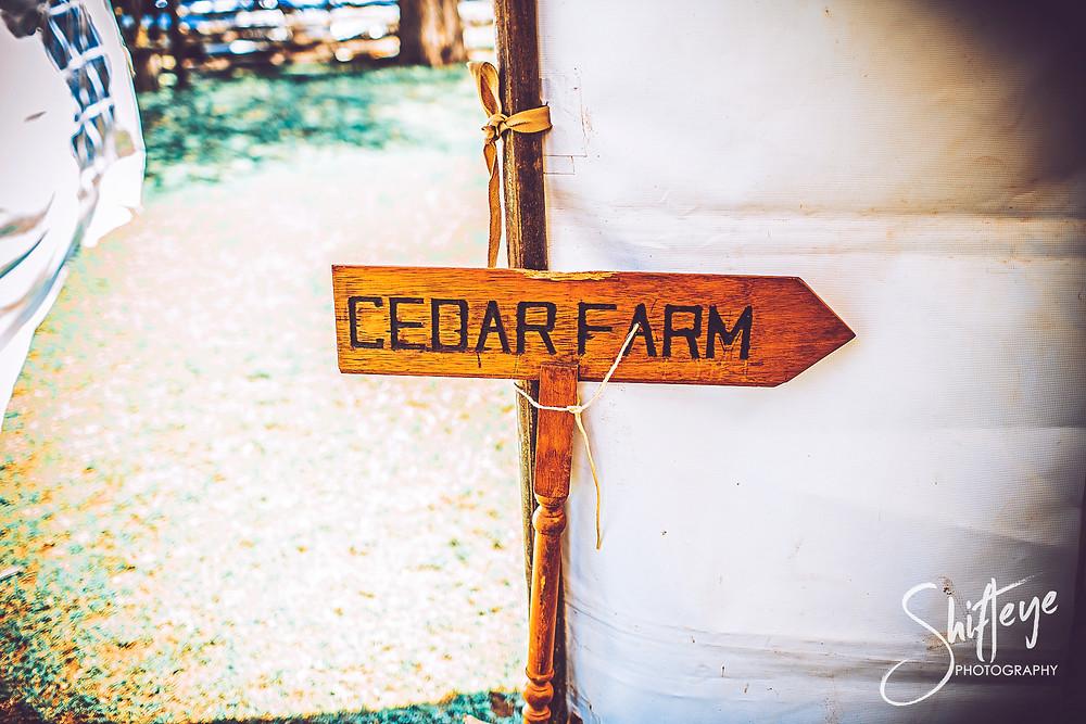 Sign To Cedar Farm