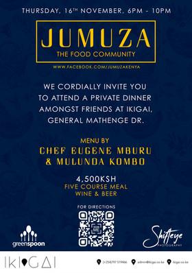 Innaugural JUMUZA Kenya Dinner Invitation