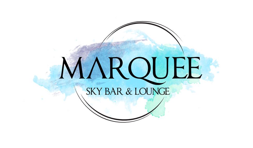 Initial Marquee Sky Bar & Lounge Logo Presentation Concept