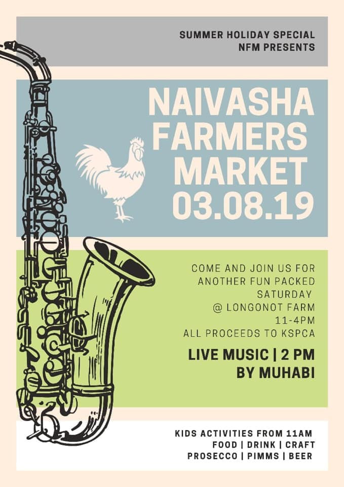 Poster for the August 2019 Naivasha Farmers' Market