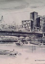 Set 04. Wilhelminabrug vanaf Griend 1965